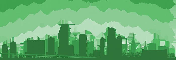 Miami Green Silohuette